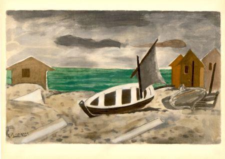 Трафарет Braque - À Varengeville (1956) de l'album : Douze Contemporains par J. Lassaigne (1959)