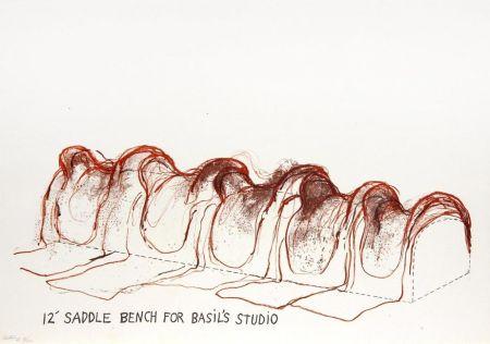 Литография Dine - 12' Saddle Bench for Basil's Studio