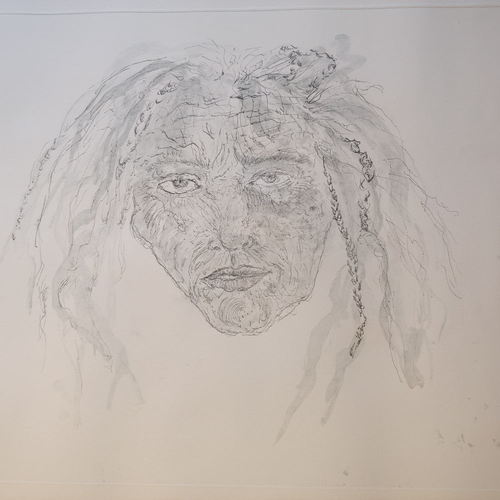 Гравюра Smith - 1st State Self Portrait