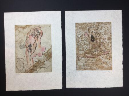 Офорт И Аквитанта Matta - 2 artworks from FMR folder