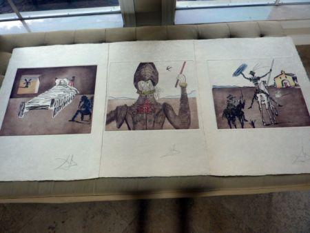 Акватинта Dali - 3 images from Don Quichotte
