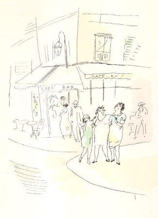 Иллюстрированная Книга Pascin - 3 petites filles dans la rue.  Dessins en couleurs de Pascin