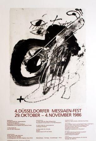 Литография Tàpies - 4. Düsseldorfer Messaien-Fest