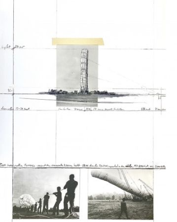 Многоэкземплярное Произведение Christo - 5600 m3 Package, Project for Documenta 4, Kassel,