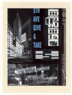 Литография Acconci - 5th Ave Give & Take