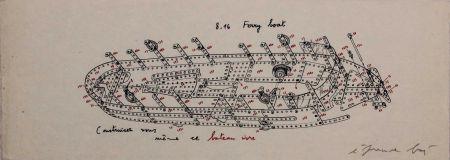 Сериграфия Baj - 8.16 Ferry Boat. Construisez-vous-même ce bateau ivre