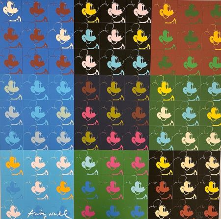 Гашение Warhol - 81 x Mickey Mouse