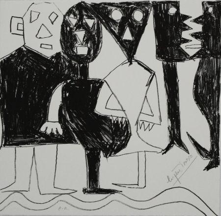 Литография Ionesco - A bord de la nef