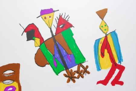 Литография Ionesco - A bord de la nef des fous