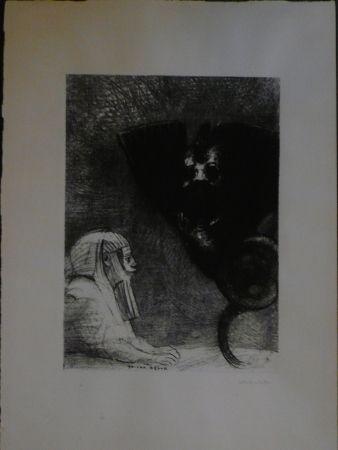 Литография Redon - A Gustave Flaubert,le sphinx