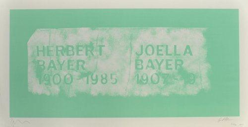 Литография Myles - A History of Type Design / Herbert Bayer, 1900-1985 (Aspen, USA)