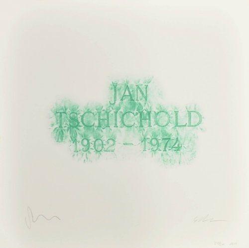 Литография Myles - A History of Type Design / Jan Tschichold, 1902-1974 (Berzona, Switzerland)