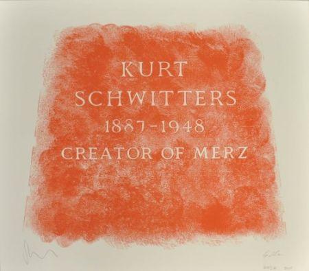 Литография Myles - A History of Type Design / Kurt Schwitters, 1887-1948 (Ambleside, England)