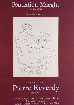Литография Picasso - '' A la Recherche de Pierre Reverdy ''