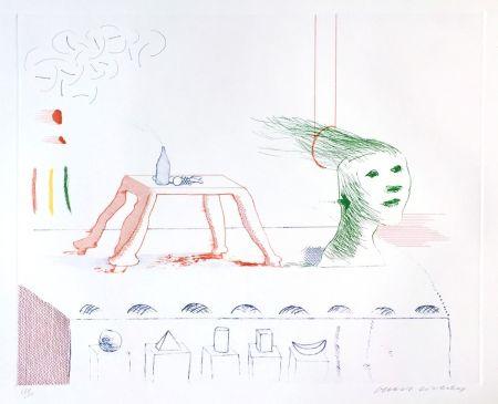 Акватинта Hockney - A Moving Still Life, The Blue Guitar