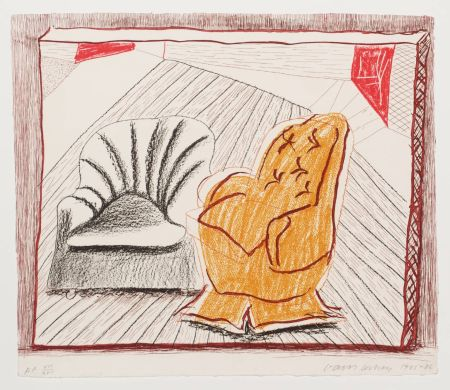 Литография Hockney - A Picture Of Two Chairs