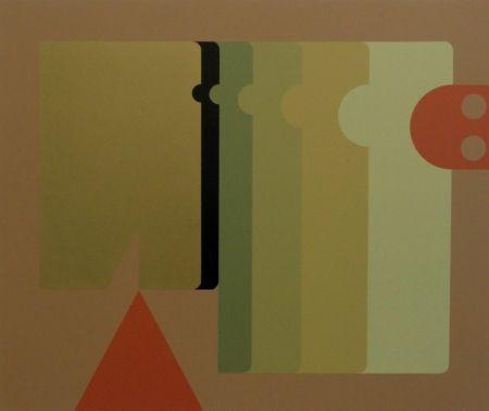 Сериграфия Felguerez - Absract Composition with Triangle