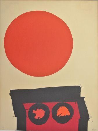 Литография Feito - Abstraccion En Rojo Y Negro