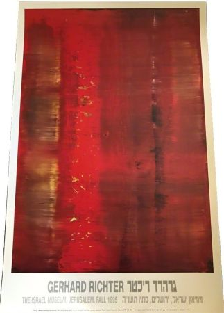 Афиша Richter - Abstract painting (red, blurred)