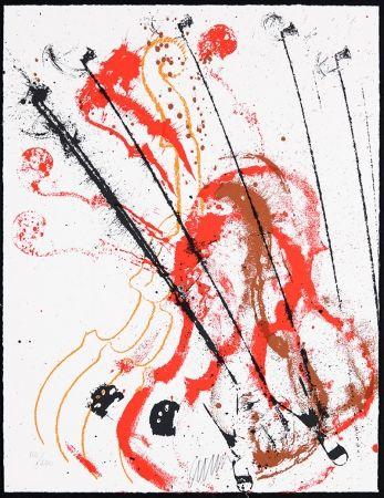 Сериграфия Arman - Accords à cordes III