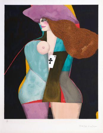 Литография Lindner - Ace of clubs
