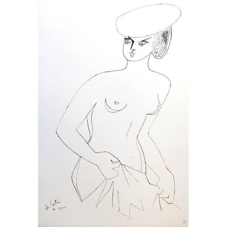 Литография Cocteau - Actrice