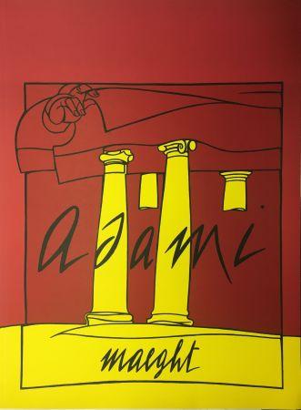 Литография Adami - ADAMI 1980 : Lithographie originale pour la Galerie Maeght.