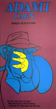 Литография Adami - ADAMI CAEN 1980 : Affiche en lithographie originale.