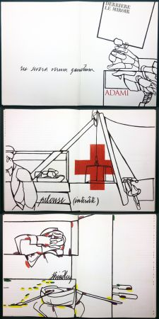 Иллюстрированная Книга Adami - ADAMI. Le voyage du dessin. DERRIÈRE LE MIROIR N° 214. Mai 1975.