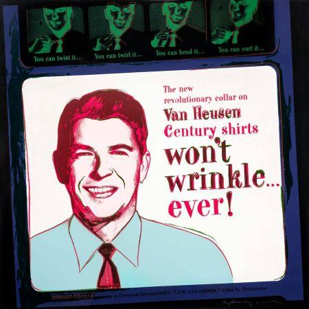 Сериграфия Warhol - ADS: VAN HEUSEN (RONALD REAGAN) FS II.356