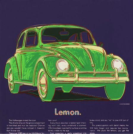 Сериграфия Warhol - ADS: VOLKSWAGEN FS II.358
