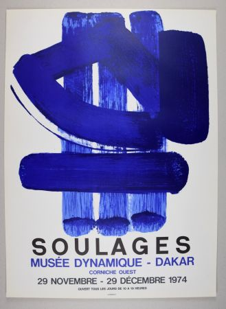 Литография Soulages - AFFICHE DAKAR