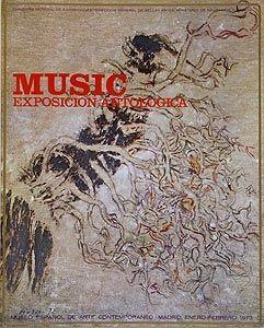 Гашение Music - Affiche de l'exposition à Madrid