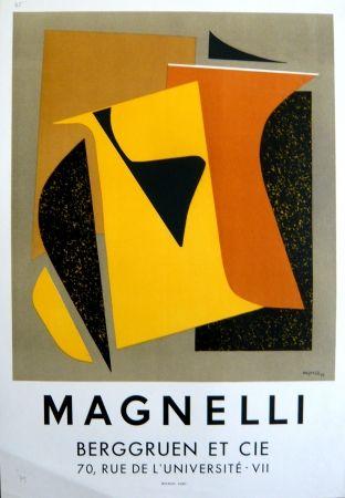 Литография Magnelli - Affiche exposition galerie Berggruen Mourlot
