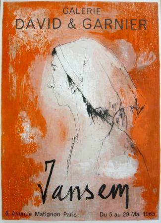 Афиша Jansem - Affiche exposition galerie David & Garnier