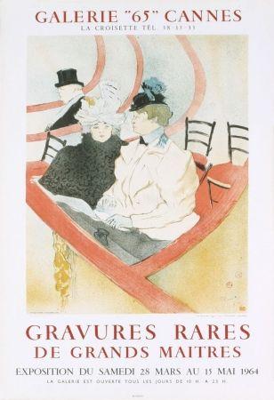 Литография Toulouse-Lautrec - Affiche exposition Mourlot 1964
