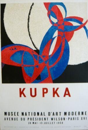 Литография Kupka - Affiche exposition Musée d'art moderne
