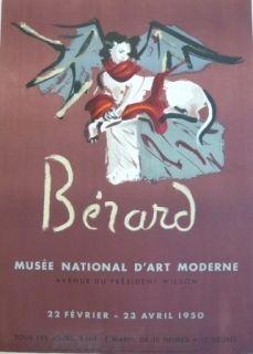 Литография Berard - Affiche exposition Musée d'art moderne Mourlot