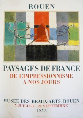 Литография Villon - Affiche exposition Musée des Beaux-Arts de Rouen