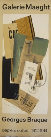 Афиша Braque - Affiche exposition papiers collés galerie Maeght
