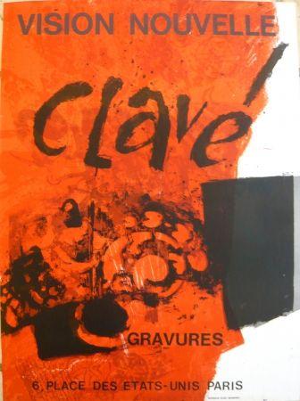 Афиша Clavé - Affiche exposition Vision nouvelle