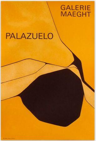 Афиша Palazuelo - Affiche lithographique originale de la Galerie Maeght 1963.