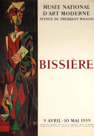 Литография Bissiere - Affiche Musee D'art Moderne de Paris