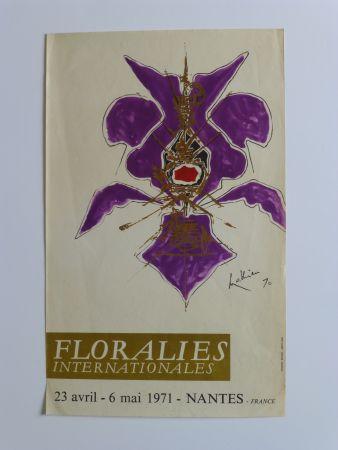 Афиша Mathieu - Affiche pour les floralies de Nantes 1971
