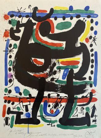 Литография Miró - Affiche pour Mourlot