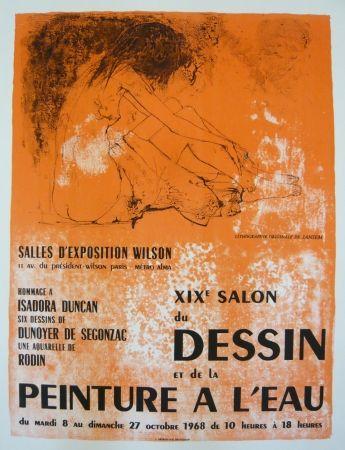 Афиша Jansem - Affiche salon du dessin et de la peinture à l'eau