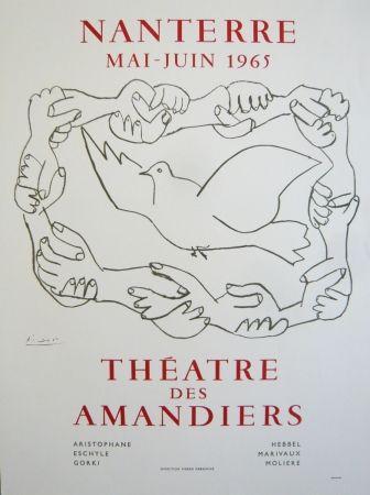 Афиша Picasso - Affiche théâtre des Amandiers