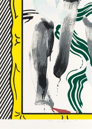 Литография Lichtenstein - Against Apartheid