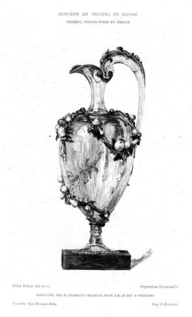 Гравюра Buhot - Aiguière en cristal de roche