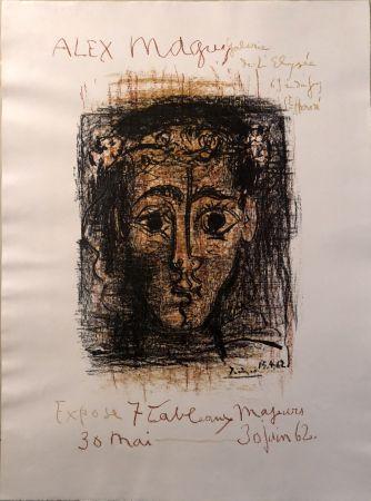 Литография Picasso -  Alex Maguy Expose 7 Tableaux Majeurs -